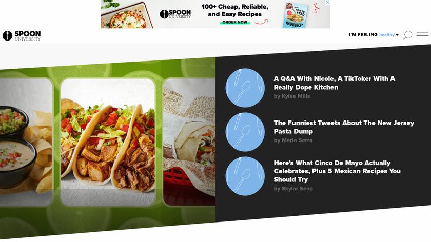 Spoon University Landing Page