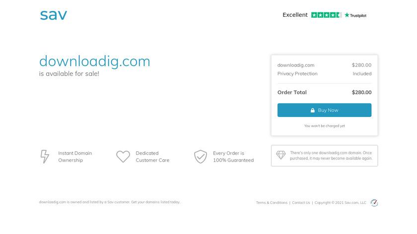 DownloadIG.com Landing Page