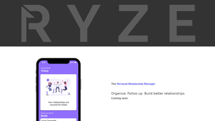 Ryze App Landing Page