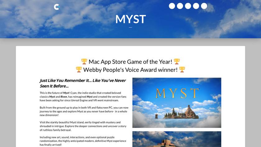 Myst Landing Page