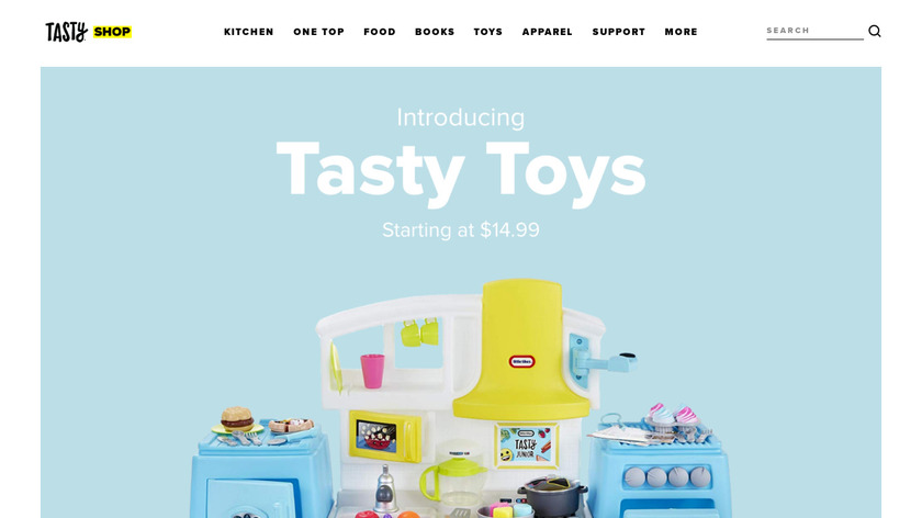 Tasty the Cookbook Landing Page