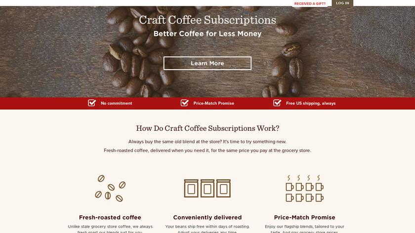 Craft Coffee Landing Page