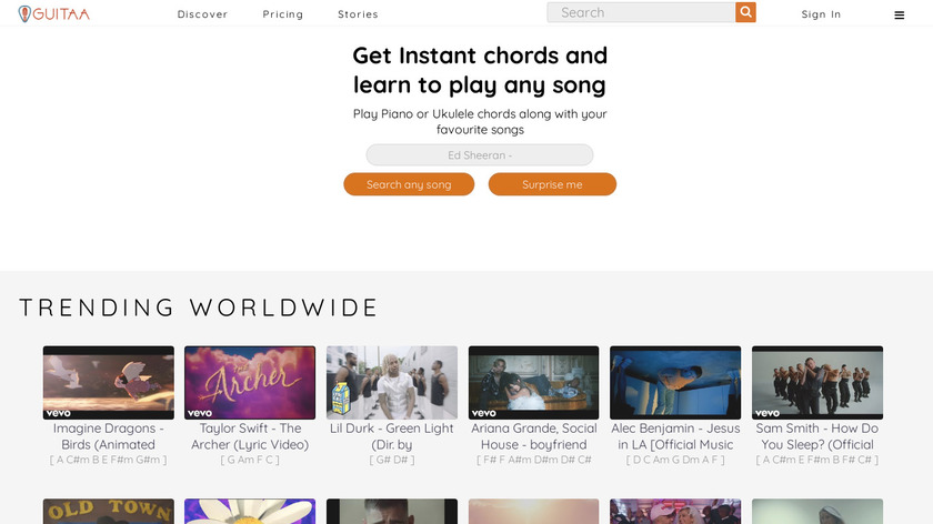 GUITAA Landing Page