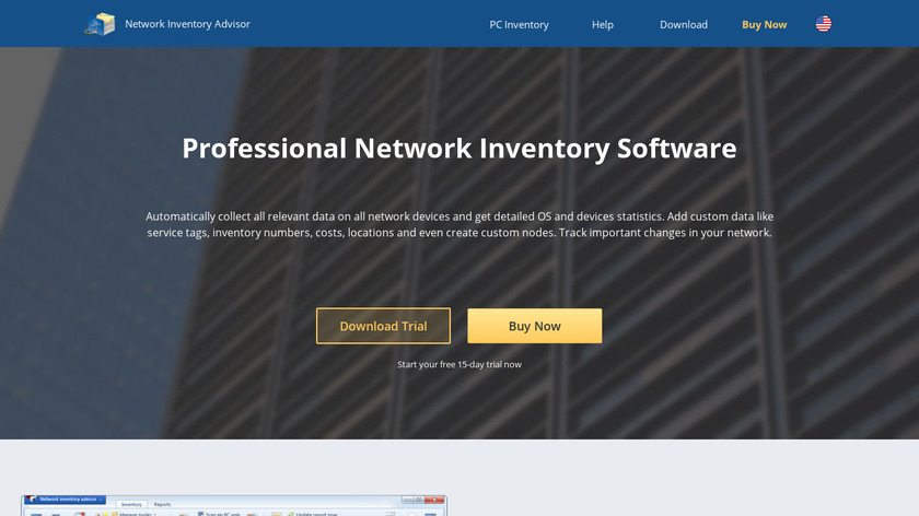 Network Inventory Advisor Landing Page