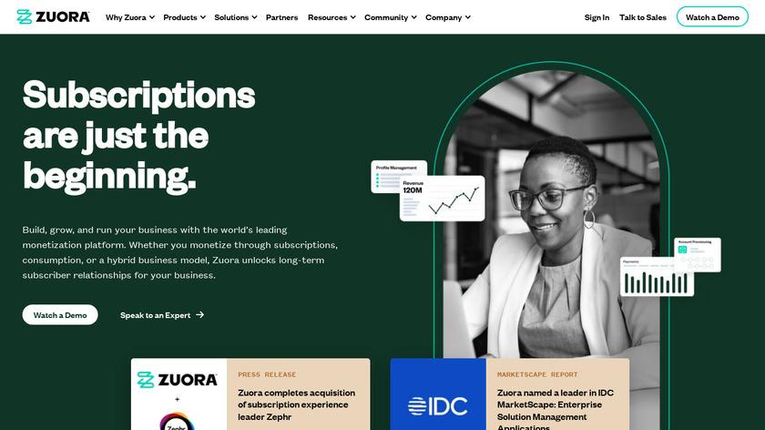 Zuora Landing Page