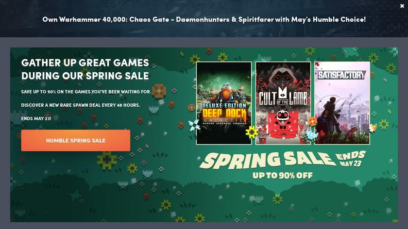 Humble Bundle Landing Page