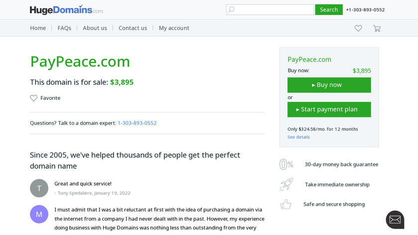 PayPeace Landing Page