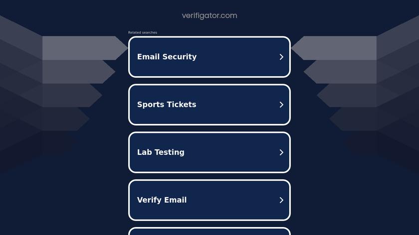 VERIFIGATOR Landing Page