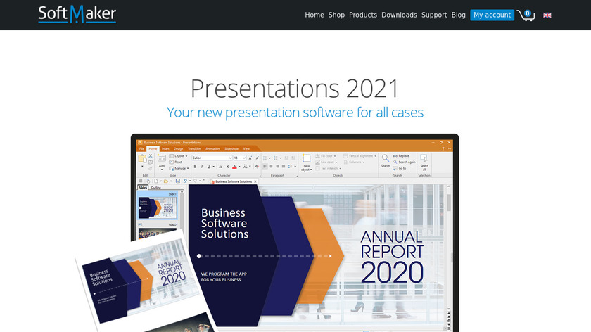SoftMaker Presentations Landing Page