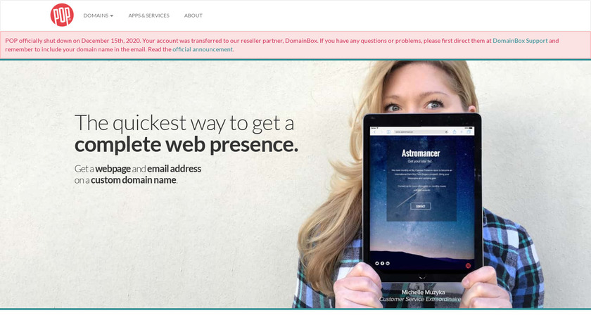 POP.co Landing Page