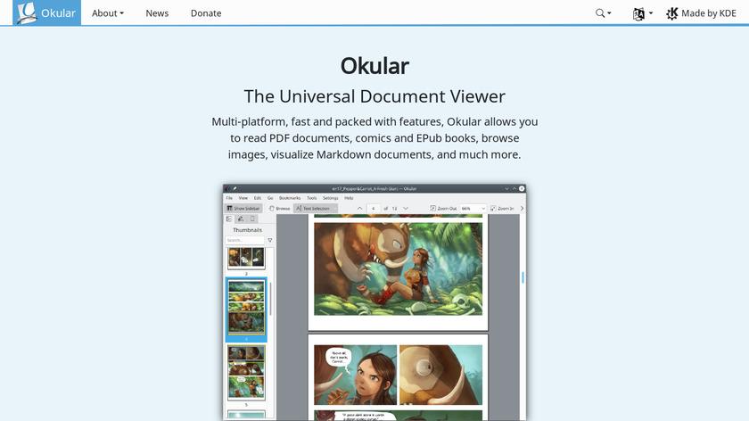 Okular Landing Page