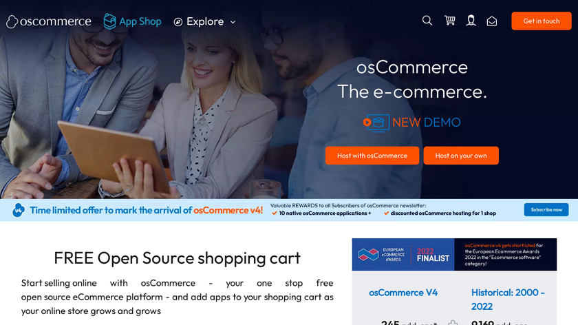 osCommerce Landing Page