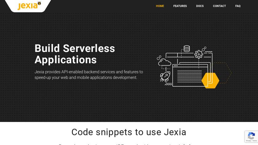 Jexia Landing Page