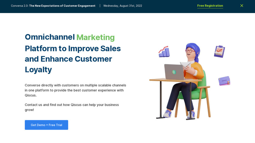 qiscus Landing Page