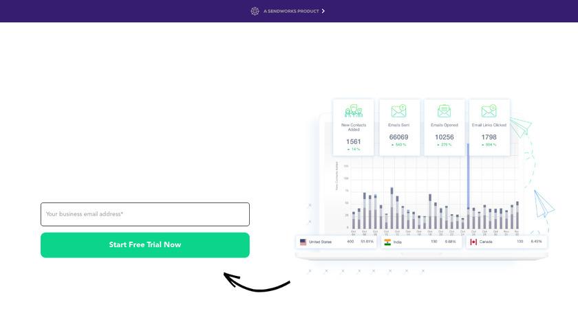SendX.io Landing Page