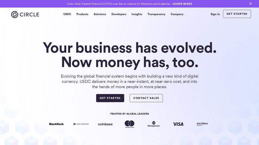 Circle Pay Landing Page