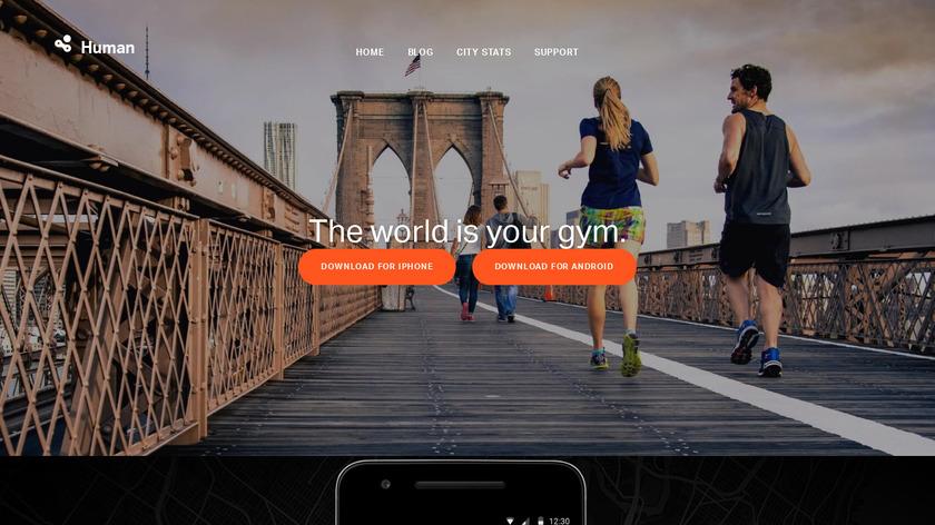 Human:Activity tracker Landing Page