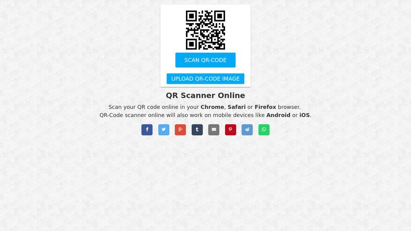 QR Scanner Online Landing Page