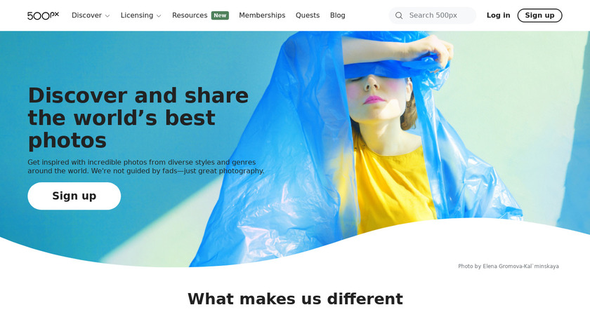 500px Landing Page