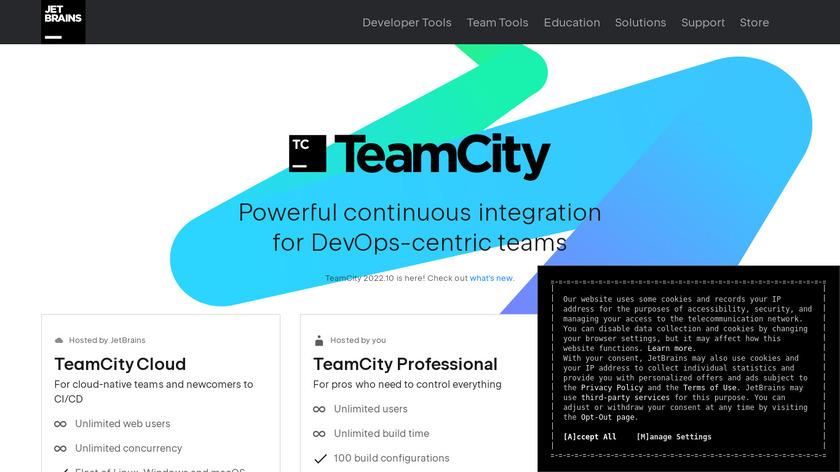 TeamCity Landing Page
