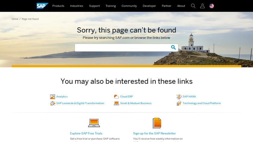 SAP Business Suite Landing Page