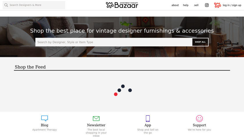 Apartment Therapy Marketplace Landing Page