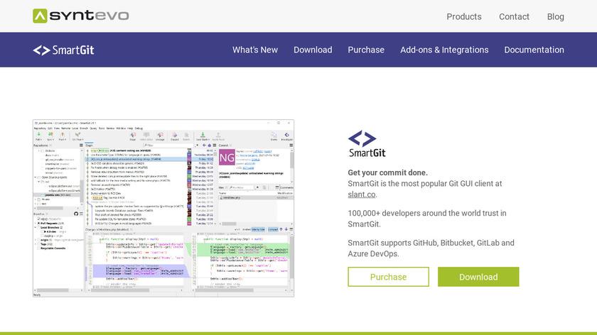 SmartGit Landing Page