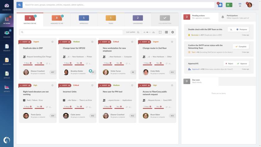 InvGate Service Desk Landing Page