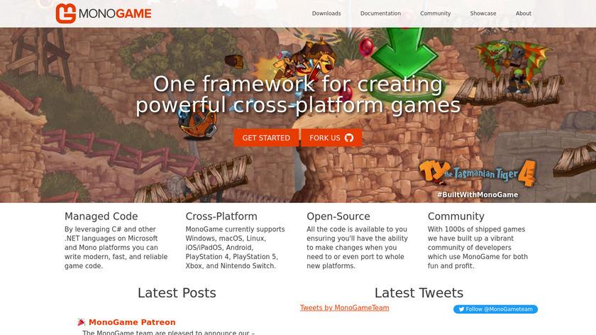 MonoGame Landing Page