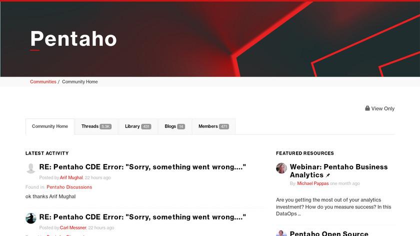 Pentaho Landing Page