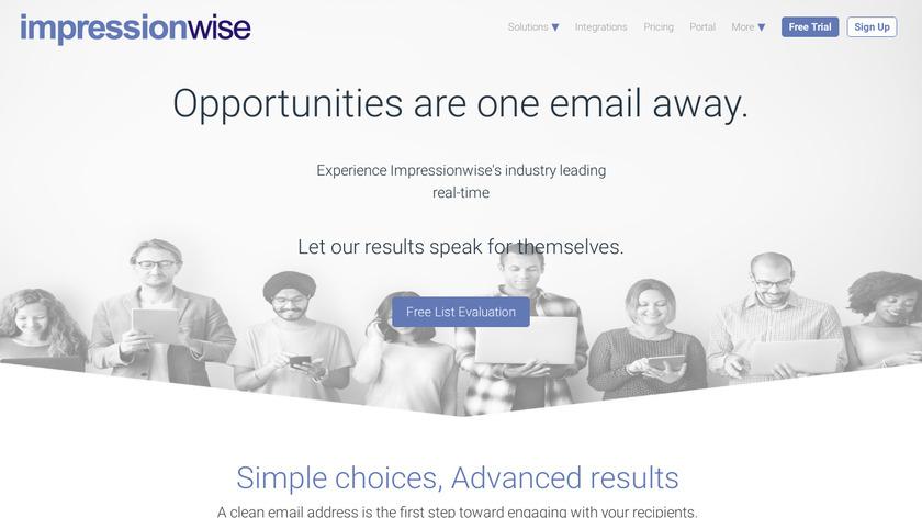 Impressionwise Landing Page