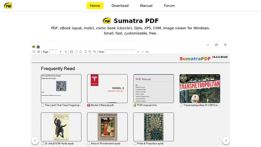 Sumatra PDF Landing Page