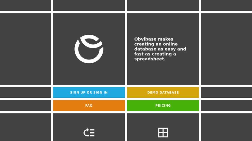 Obvibase Landing Page