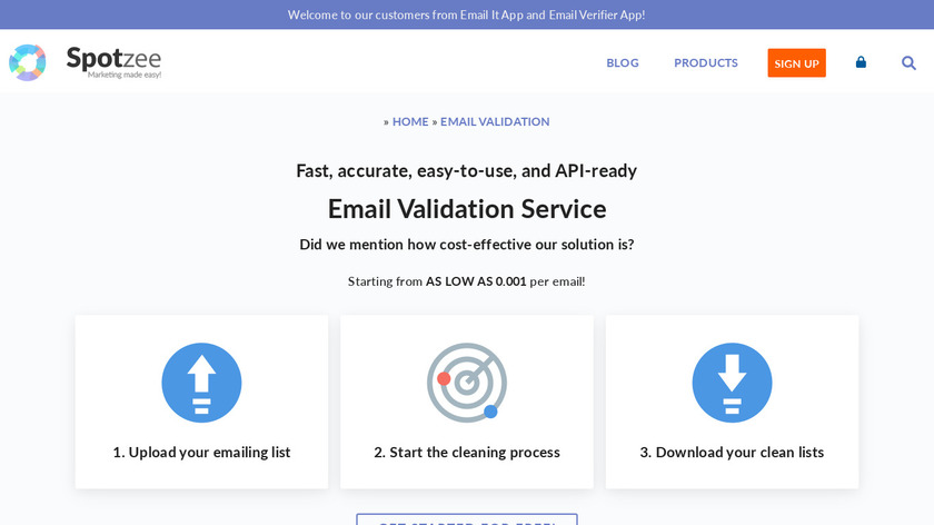 Email Verifier Landing Page