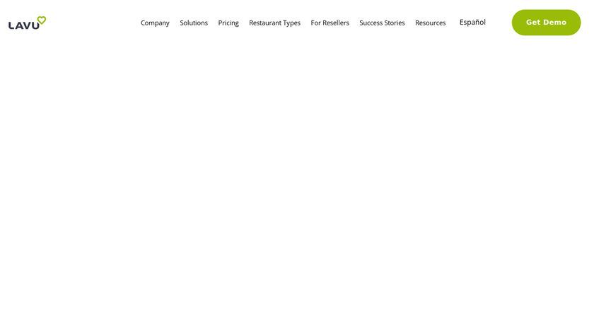 Lavu Landing Page