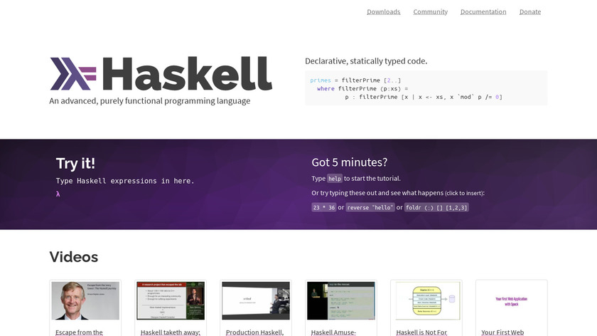 Haskell Landing Page
