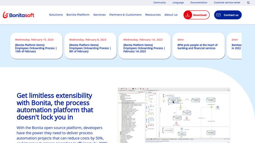 Bonita BPM Landing Page