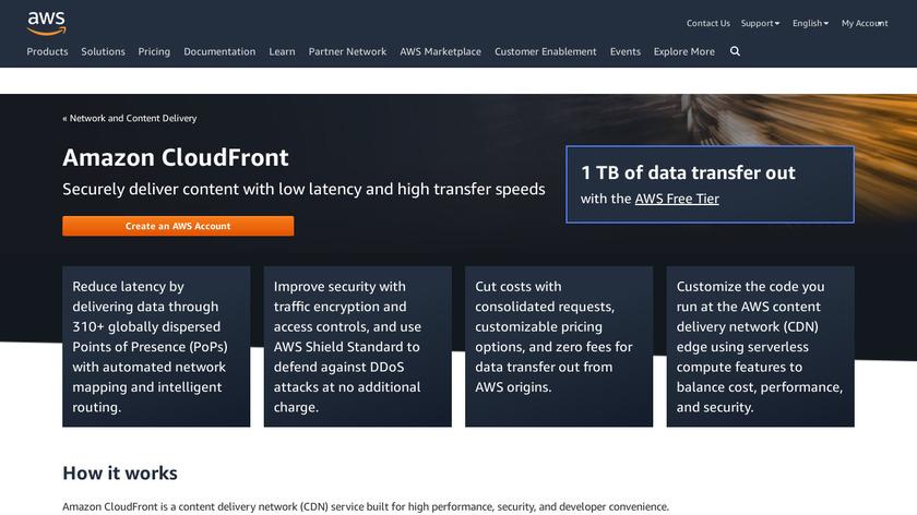 Amazon CloudFront Landing Page