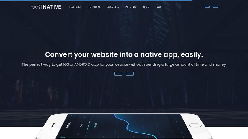 Fastnative Landing Page