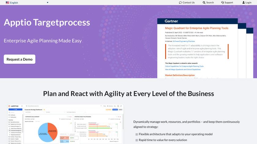 TargetProcess Landing Page