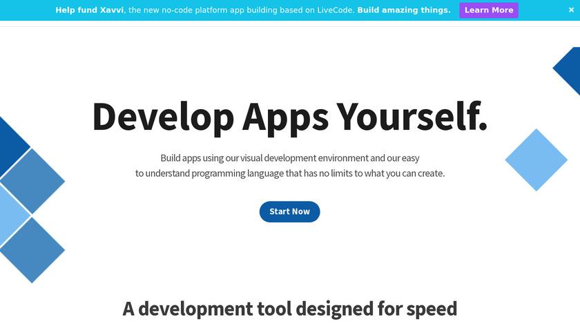 LiveCode Platform Landing Page
