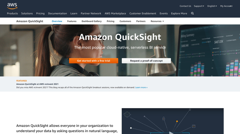 Amazon QuickSight Landing Page