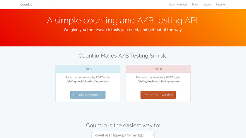 count.io Landing Page
