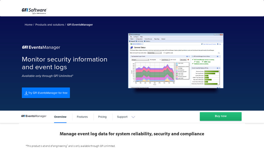 GFI EventsManager Landing Page
