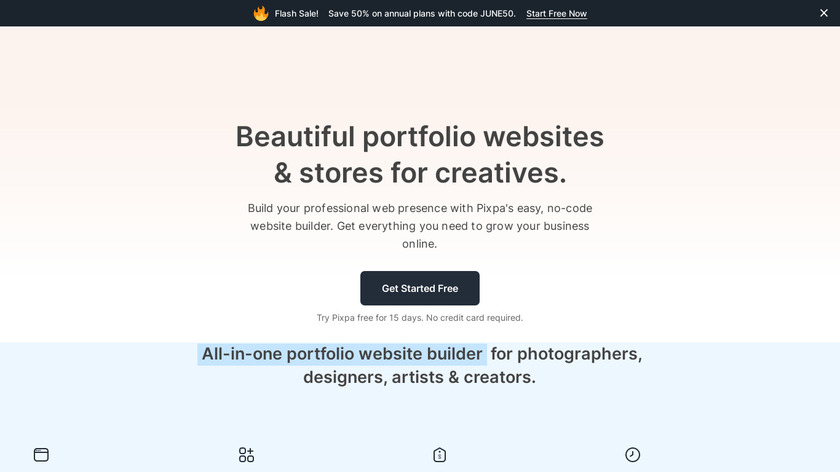 Pixpa Landing Page