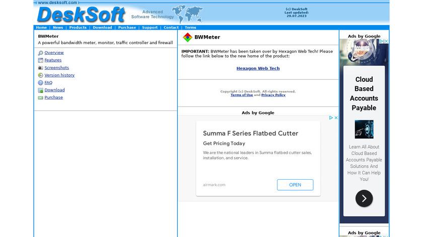 BWMeter Landing Page