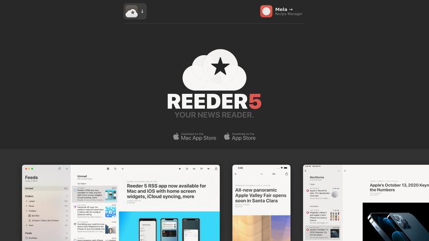 Reeder Landing Page
