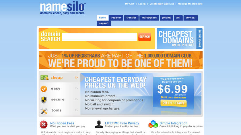 NameSilo Landing Page