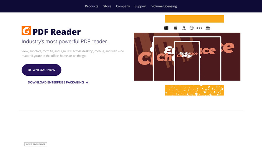 Foxit Reader Landing Page