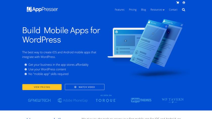 AppPresser Landing Page